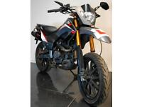 2016 16 KEEWWAY TX 125 M TXM BLACK SUPERMOTO LEARNER LEGAL TRADE SALE 4400 MILES