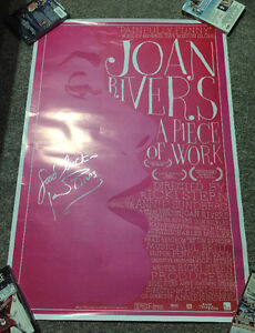 Joan Rivers poster sign by her