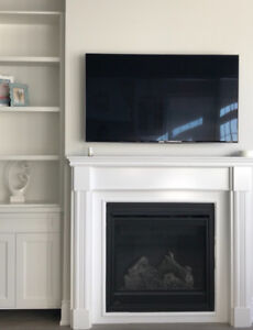 Fireplace Mantel - Brand new, white & very detailed