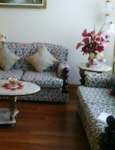 3 pieces flora  sofa set, like new , no stain, $380