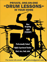 Drum Lessons in Thornhill OR At Your Home!