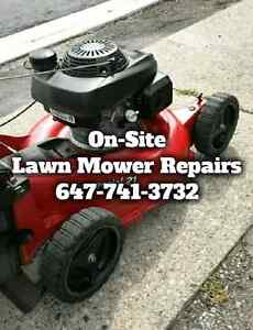 On-Site Lawn Mower Repairs • We Come To You!