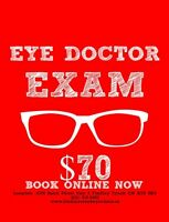 Eye Exam by a respected Optometrist today