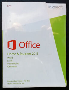 MICROSOFT OFFICE HOME AND STUDENT 2013 NEW IN BOX