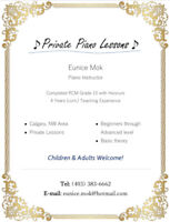 Piano Lessons in Edgemont NW, Calgary
