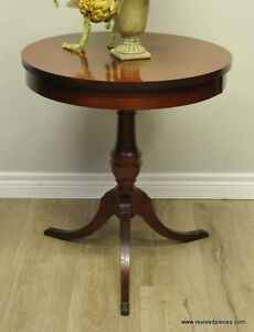 Duncan Phyfe Drum Occasional Table by Mersman