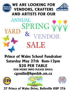 Vendors, Crafters and Artists wanted for school fundraiser
