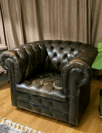 Vintage Chesterfield Club Armchair