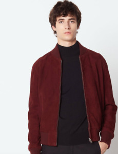 Sandro Suede Bomber Jacket (New, with tags)