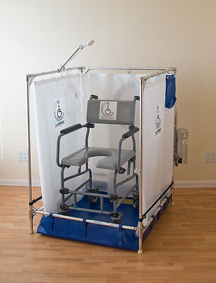 ADA Approved Portable Wheelchair Shower Stall for Handicapped (10-Year Warranty)
