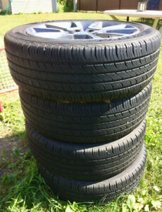 P215/55R18 94T HANKOOK OPTIMO H727 ALL SEASON TIRES on MAGS!
