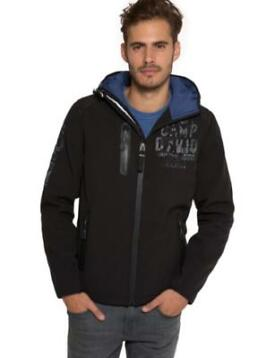 Camp David Softshell Jas Black  Met 30% Korting!
