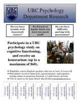 Seeking Participants for a UBC Psychology Study