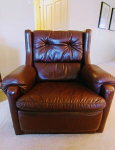 Vintage leather sofa and armchairs (Gimson + Slater collection)