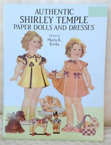 AUTHENTIC Shirley Temple Paper Dolls/CutOuts circa 1991