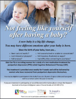 Free CBT Group Therapy for Postpartum Depression Study Brantford
