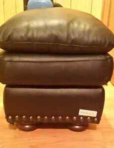 genuine leather ottoman/footstool