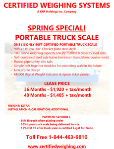 NEW AND USED PORTABLE TRUCK SCALES Edmonton Edmonton Area image 9