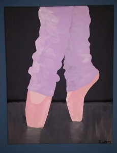 Original painting on canvas of ballet and tap dancer