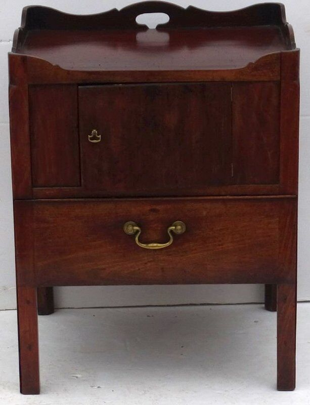 Antique 18th Century George III Mahogany Commode Stand