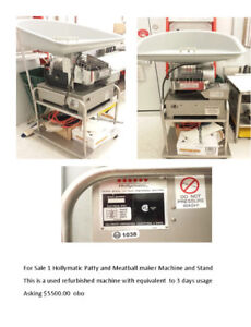 Hollymatic Patty and meatball maker machine and stand