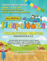 Volunteer's wanted for Kidpalooza Fall Festival