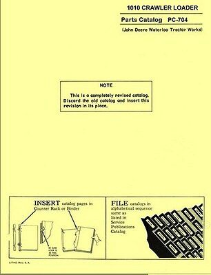 John Deere 1010 Crawler Loader Parts Manual 704