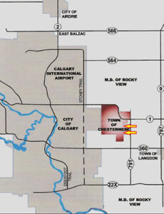 CHESTERMERE (near Calgary) ALBERTA 53 Acres LAND for Sale