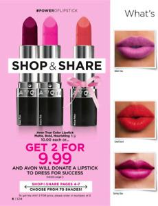Free Avon Brochure Campaign 14- The Power of Lipstick