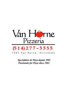 Livreur pour Pizzeria Van Horne - Outremont/TMR/Mile-End