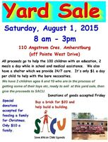 Yard Sale for SACU (Save African Child Uganda)