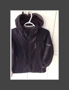 Women's Columbia black soft shell jacket.