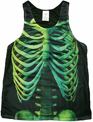 Skeleton Print Tank Top - Cool Halloween Gift, Funny Humor, Summer Wear  - Halloween Humour