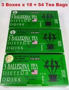 3 Boxes - AUTHENTIC 3 BALLERINA TEA DIETERS DRINK EXTRA STRENGTH