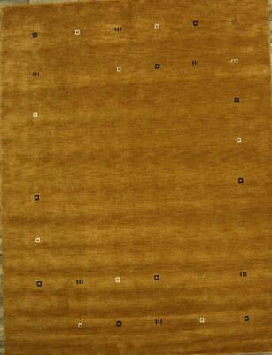 Abstract Hand-Knotted Modern Area Rug 8'x11' Gabbeh Contemporary Oriental Carpet
