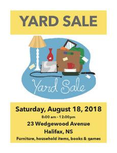 Yard Sale! Wedgewood Avenue - August 18th