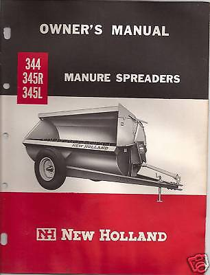 New Holland 344-345r-345l Manure Speaders Owners Manual