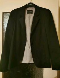 Emporio Armani Black Smart Blazer Suit Jacket
