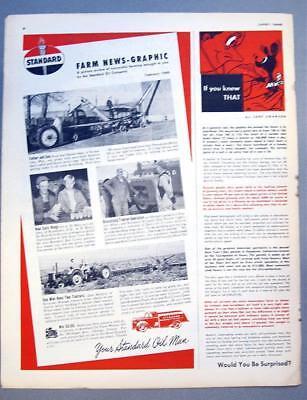 Original 1949 Standard Oil Ad Photo Endorsed A H & John Berg of Wyndmere ND