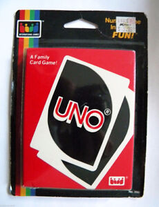 Vintage Sealed UNO card game-1985-By International Games London Ontario image 1