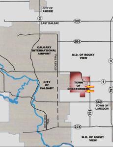 CHESTERMERE (near Calgary) ALBERTA   53 Acres LAND for Sale
