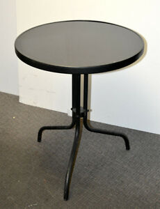 Two Round Tables with Glass Top