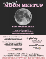 MOON MEETUP:   Crystals, Yoga, Intention Setting
