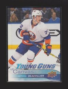 2016-17 UD YOUNG GUNS RC CANVAS #C117 ANTHONY BEAUVILLIER MINT