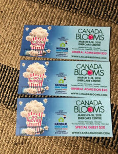 Canada blooms / home show tickets