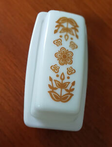 "Vintage Pyrex ""Butterfly Gold' Covered Butter Dish with Lid 70's"