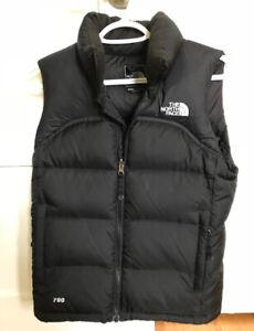 XS Black North Face Vest