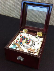Christmas Scene Musical Box