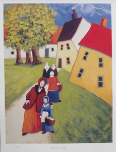 Vibrant Limited Edition Lithograph Print by Carol Ann Shelton!