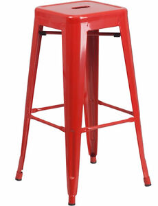 RESTAURANT INDUSTRIAL TOLIX STYLE METAL BAR STOOL COUNTER STOOL